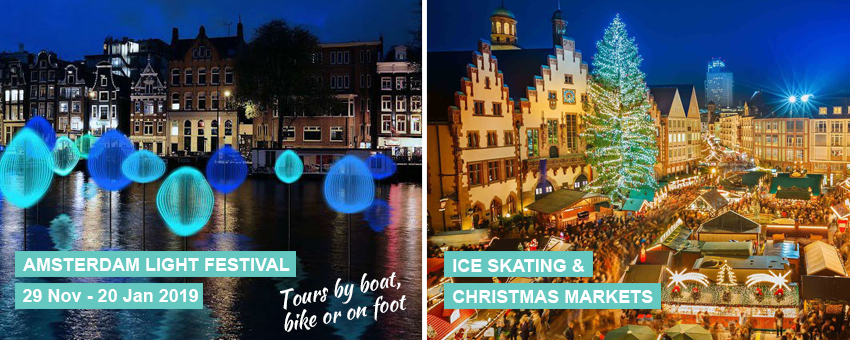 Amsterdam Light Festival touroperator GO Experience Christmas Market Ice Skating Brussels