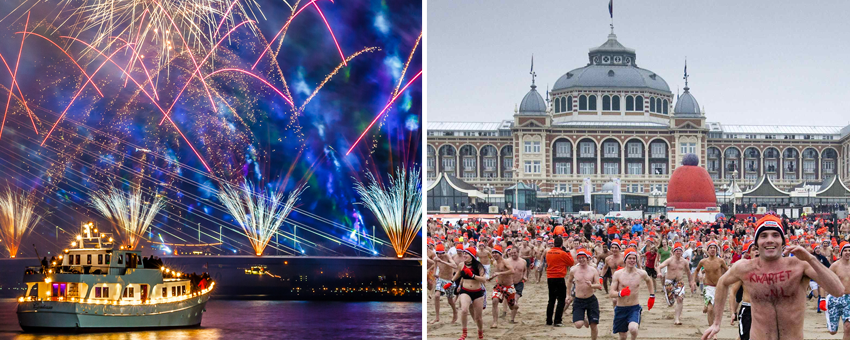 New Year Holland Rotterdam GO Experience touroperator New Years Dive Scheveningen Fire Works
