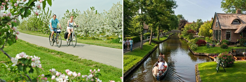 Spring Holland Belgium Cycling Sailing Giethoorn GO Experience Tours Touroperator DMC