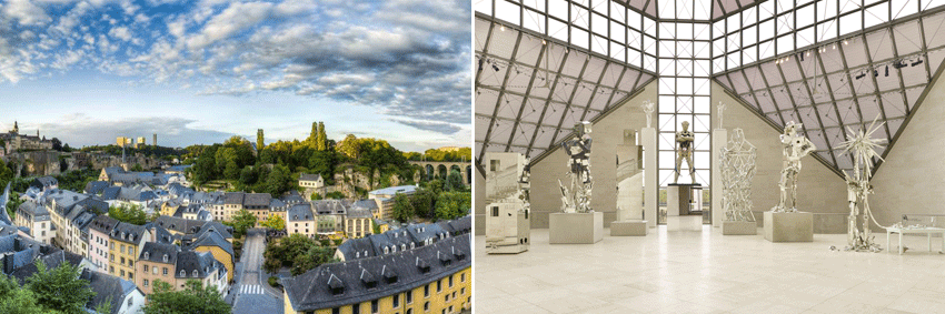Unesco Luxembourg City & MUDAM - contemporary art gallery GO Experience guided tours